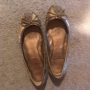 Coach ballet slipper flats